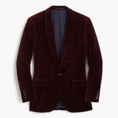 d930eb60f J.Crew - Ludlow shawl-collar velvet blazer Polo Shirts