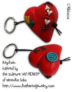 Portachiavi con cuore / Heart Keychain