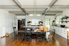 This project was the remodel of a kitchen and dining room in a beautiful, rambling, old victorian house in the Mount Tabor neighborhood of Portland. The original kitchen, which had probably been