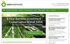 Fresh new Design and Development of @EcoInvestments Website | ecoinvestments.co.uk