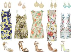 """""""Wedding Guest - Florals"""" not crazy about the 2nd dress but the 1st,4th, and 5th are lovely:)"""