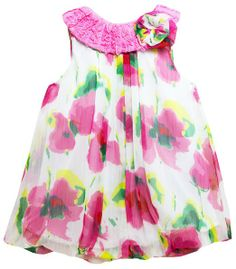 Sunshine Baby Floral Bubble Dress 12 Mo Pink multi