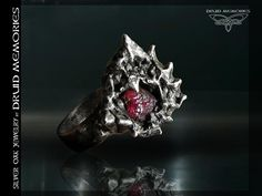 "Rhodolite ring""Overture"", druid magic ring, statemement ring."
