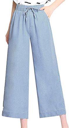 f145f26708 Damas Jeans Acampanados Pantalones Vaqueros Cintura Novio Alta De Pierna  Recta Pantalones Vaqueros Joven Rectos Pantalones