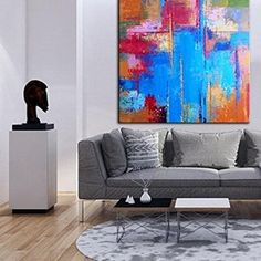 Abstract Oil Painting Original Large Oversize Painting Office Painting Colorful Painting Blue Painting Abstract Oil Painting On Canvas Black And White Painting, Blue Painting, Black And White Abstract, Oil Painting Abstract, Colorful Paintings, Your Paintings, Original Art, Original Paintings, Paint Prices