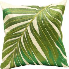 "16/"" Round coastal palm tree design pillow indoor use"