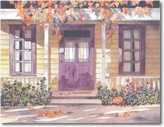 """Pomm Fine Art   Watercolor Gallery #2   """"Harvest Sun"""""""