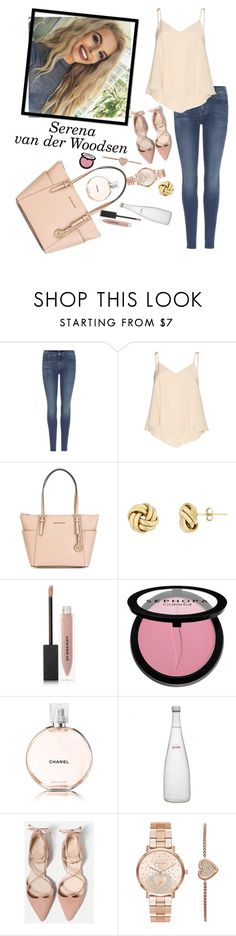 """""""Gossip Girl"""" by notosuper on Polyvore featuring 7 For All Mankind, Alice + Olivia, MICHAEL Michael Kors, Burberry, Sephora Collection, Chanel, Evian and Michael Kors"""