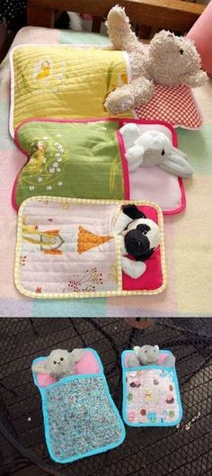 Sleeping Bags for Soft Toys. As soon as I saw the original pin, I knew Clare would love a few of these for her tribe of lambs and cats. I downloaded the pattern from this link and found it very easy to follow. Also a really good sampler for those, like myself, who are just starting out on machine quilting. Clare loves them and wants more...