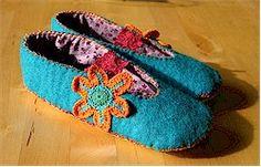 Felt slippers - free pattern/tutorial
