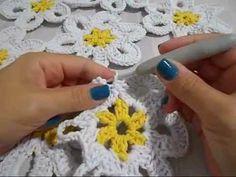 Hilda Eroles - vídeo 12 parte 1 - flor margarida em tapete - YouTube