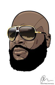 Arte Do Hip Hop, Hip Hop Art, Black Cartoon, Cartoon Art, Trill Art, Rapper Art, Black Art Pictures, Rick Ross, Afro Art