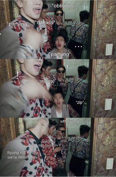 Jiyong!.. not now #BIGBANG #WeLike2Party ~('▽'~) (~'▽')~