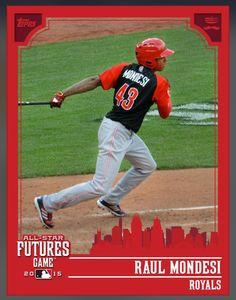 Raul Mondesi Kansas City Royals Futures (All Star Game) Insert Card 2015 Topps BUNT