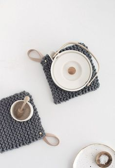 DIY Knit Potholders