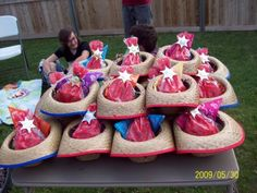Cowboy hat and bandana party favors
