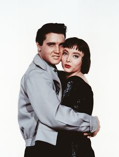 Elvis Presley and Carolyn Jones- publicity shot for King Creole 1958