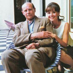 Audrey Hepburn and her father Joseph Victor Hepburn-Ruston reunited in Ireland, August 1964.