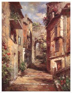 Tuscan Village at FramedArt.com