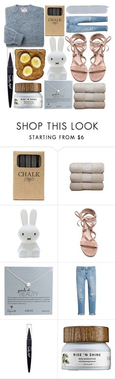 """""""Bananas and Chalk"""" by alexandrazeres ❤ liked on Polyvore featuring Jayson Home, Natori, Mr Maria, Gianvito Rossi, Dogeared Jewels, White House Black Market and Maybelline"""