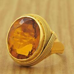 Retro Citrine Ring | Perrys Fine Antique & Estate Jewelry