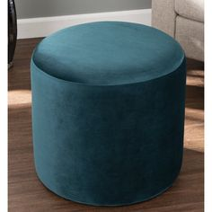 Brayden Studio Clendon Round Ottoman & Reviews | Wayfair Round Storage Ottoman, Round Ottoman, High Ceiling Living Room, Dressing Area, Modern Vanity, Fabric Ottoman, Upholstered Ottoman, Cocktail Ottoman