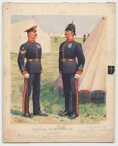 British; Military Foot Police, c.1900 by Ernest Ibbetson