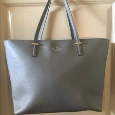 kate spade medium harmony gray medium harmony.  near perfect condition.  saffiano leather (cross-hatched) does not scratch easily.  very durable. kate spade Bags