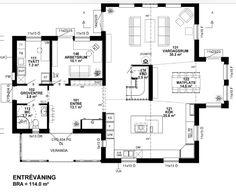 Vi bygger Kaptensgården: Entréplan m tillval New Bedford, House Drawing, Sims, House Plans, Floor Plans, Exterior, House Design, How To Plan, Dream Homes