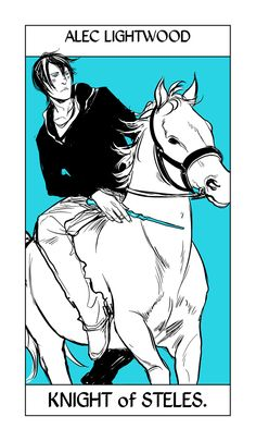 Lightwoods take the Court cards for the steles/wands suit in Cassandra Jean's Shadowhunter Tarot