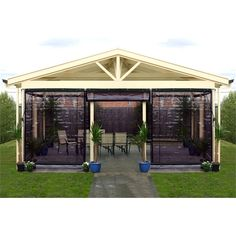 Smart Home Products 300 x 240cm Charcoal PVC Outdoor Bistro Blind $140