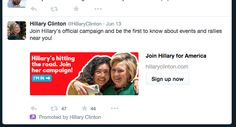 Hillary twitter Political Ads, Insta Story, Rally, Campaign, Politics, Twitter