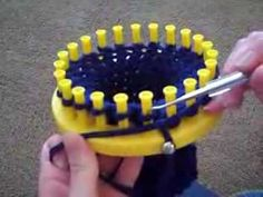 Comment faire une echarpe au tricotin long en tricot double 2eme partie - YouTube