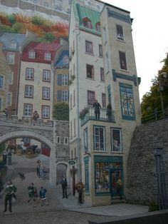 ✭ Trompe l'oeil in Quebec City, Canada  Will be there next month!!