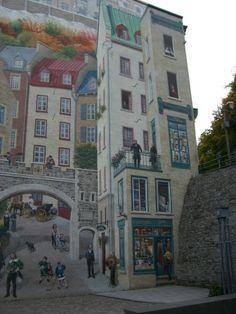 Trompe l'oeil in Quebec City