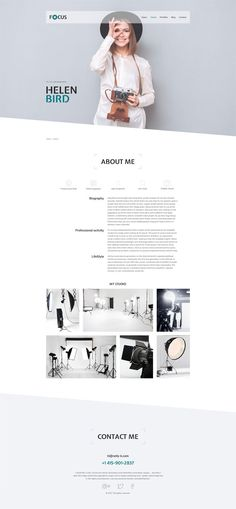 Focus - Photographer portfolio PSD Template The Effective Pictures We Offer You About Web Design minimalist A quality picture can tell you many things. Minimal Web Design, Design Sites, Web Design Quotes, Graphisches Design, Web Design Tips, Web Design Company, Clean Web Design, Creative Design, Portfolio Design Layouts