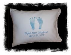 Personalized Baby Footprint Pillows, Stillbirth Resources
