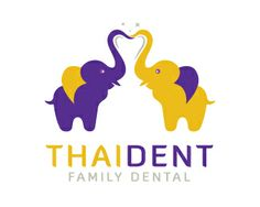 THAIDENT - FAMILY DENTAL Logo design - This logo is ideal for a business related to: Thai dental, kid dentistry, dental lab, dentist, dental clinic, dentistry, health, pediatric dentist, lost tooth, orthodontist, dental care, tooth brush, tooth fairy, dentist office, therapist, community services, social networks, youth group, well-being, clinic, medicine, healing, humanity, care center, hospital, consulting, counseling, etc. Price $550.00