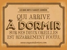 Les bons mots d'Auguste Derrière...
