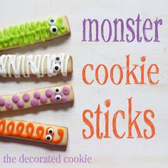 Monster Cookie Sticks for Halloween or a monster party!