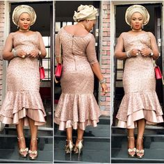 Entari Must See Fabulous Aso Ebi Styles You've Never Seen Before - Wedding Digest Naija Lace Styles For Wedding, Wedding Guest Style, Wedding Reception, Wedding Ceremonies, Nigerian Lace Styles, African Lace Styles, African Style, African Beauty, African Fashion Dresses