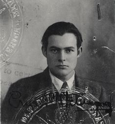 Wow Ernest Hemingway was a hottie! The 1923 passport of Ernest Hemingway. Ernest Hemingway, The Sun Also Rises, Great Novels, Book Authors, Books, Famous Faces, Vintage Photographs, Old Photos, Vintage Men