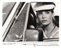 KELLY LE BROCK LA MUJER DE ROJO FOTO B/N ORIGINAL AMERICANA (Cine - Fotos y Postales de Actores y Actrices)