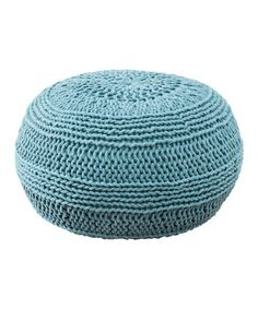 Take a look at this Aqua Pouf by Rizzy Home on #zulily today! $120 !!