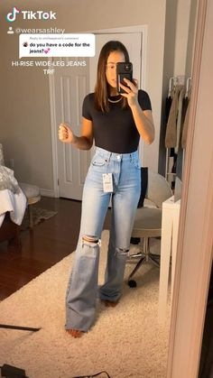 Insta/tiktok @wearsashley Simple Outfits For School, Trendy Summer Outfits, Modern Outfits, Cute Casual Outfits, Cute Clothing Stores, Dinner Date Outfits, Meeting Outfit, Estilo Denim, Boyfriend Jeans
