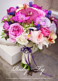 Mixing color bouquet   Flower by Mimosa Flowers Studio