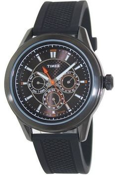 Men's Wrist Watches - Timex T2P179 Mens Multi All Black Silicone Watch -- Click image to review more details.