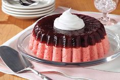 Layered Low-Fat Cranberry Mousse Mold recipe.