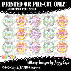 Printed  Precut: FIRST Mothers Day FIRST Fathers by KMBBDesigns