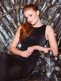 Sophie Turner (Sansa Stark) has some pretty ballin red hair. Thoughts?
